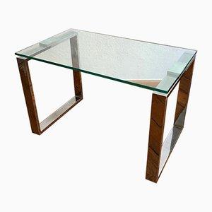 Glastisch mit Chromrahmen