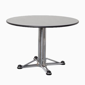 Italian Space Age Chrome-Plated Dining Table