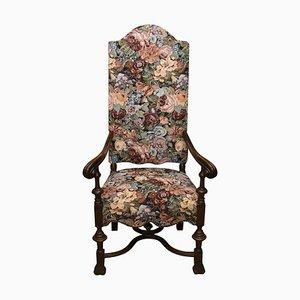 Antique Throne Armchair in Renaissance Style, 19th-Century