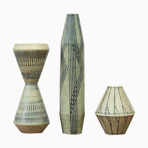 Vases by Carl-Harry Stålhane for Rörstrand, Set of 3