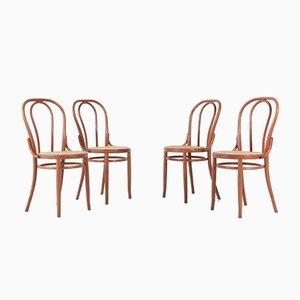 Chaises de Café Mid-Century, Italie, 1960s, Set de 4