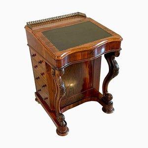 Antique Victorian Rosewood Freestanding Davenport
