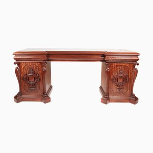 Antique William IV Carved Mahogany Sideboard