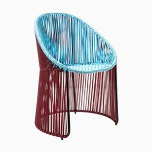 Blue Cartagenas Dining Chair by Sebastian Herkner