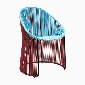 Chaise de Salle à Manger Cartagenas Bleue par Sebastian Herkner