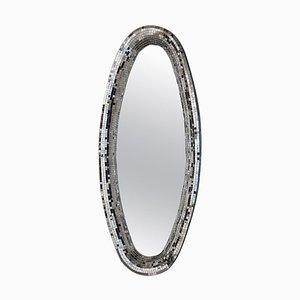 Silberner Atollo Spiegel von Davide Medri