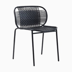 Black Cielo Stacking Chair by Sebastian Herkner