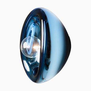 Kleine Aurum Blue Glas Wandleuchte von Alex de Witte