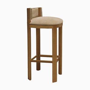Chaise de Bar en Chêne par Collector