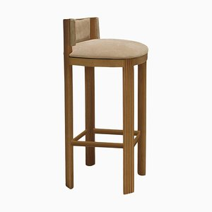Oak Bar Chair by Collector