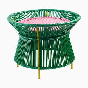 Green Caribe Basket Table by Sebastian Herkner