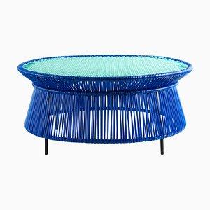 Blue Caribe Low Table by Sebastian Herkner