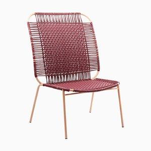 Purple Cielo Lounge High Chair by Sebastian Herkner