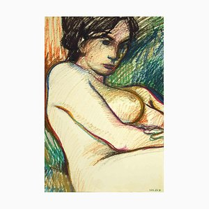 Leo Guida, Reclined Nude, Drawing, 1970s