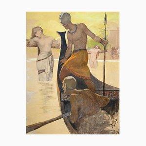 Erminio Loy, Studie für Szenografie, Aquarell, 1920er