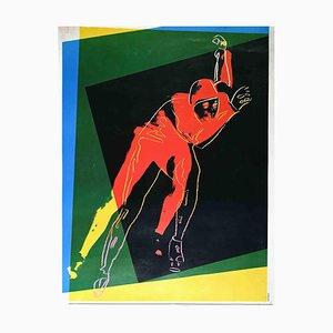 Speed Skater, Offset Print, Andy Warhol, 1984