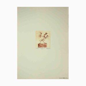 Leo Guida, The Cuckoo Clock, Etching, 1971