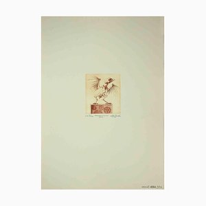 Leo Guida, The Cuckoo Clock, Gravure à l'Eau-Forte, 1971