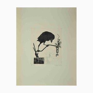 Leo Guida, The Crow, Etching Print, 1972