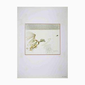 Dessin Leo Guida, Oiseau Monstre, 1972