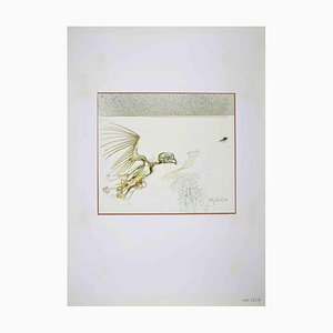 Leo Guida, Monster Bird, Drawing, 1972