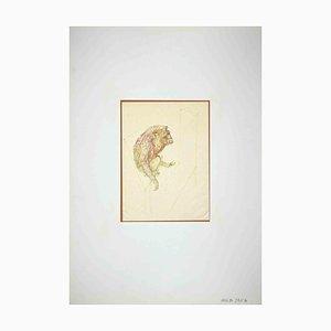 Leo Guida, Affe, Zeichnung, 1970er