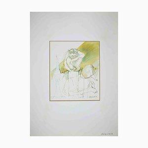 Leo Guide, Einsamkeit, Zeichnung, 1971