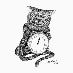Enrico Josef Cucchi, The Cheshire Cat, Zeichnung, 2020