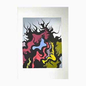 Luigi Boille, Composition, Screen Print, 1971