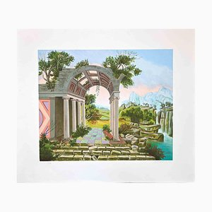 Unknown, The Temple, Lithograph, 1980s