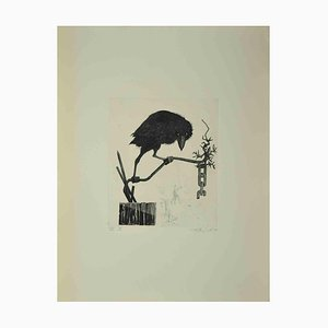 Leo Guida, The Crow, Etching, 1972