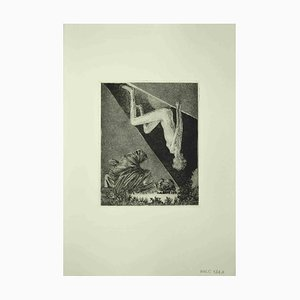 Leo Guida, Nude Sybil, Etching, 1972