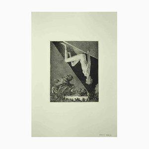 Leo Guida, Nude Sybil, Radierung, 1972