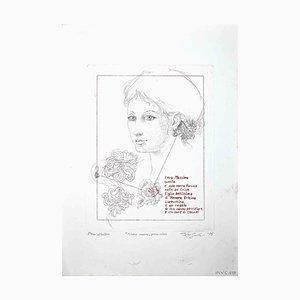 Leo Guide, Nonna Rosina, Gravure à l'Eau-Forte, 1975