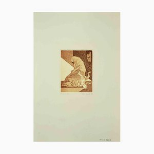 Leo Guida, The Fall, Etching, 1970