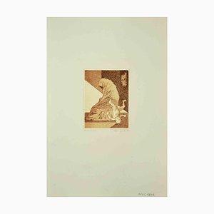 Leo Guida, The Fall, Radierung, 1970
