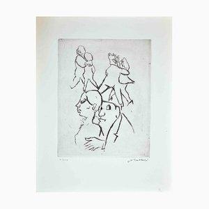 Mino Maccari, Dance, Print, 1970s