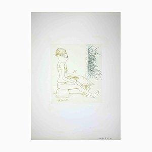 Leo Guide, Woman, Zeichnung, 1972
