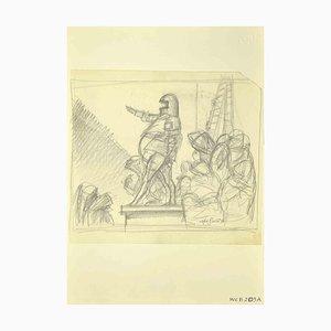 Leo Guida, The Declaration, Zeichnung, 1970er