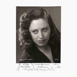 Unbekannt, Margherita Carosio Autogramm, 1944