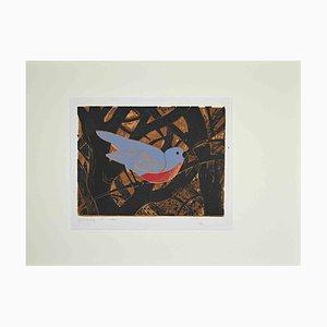 Giselle Halff, Oiseau dans les Branches, Imprimé, Milieu du 20ème Siècle