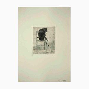 Leo Guida, Sitzender Affe, Druck, 1975