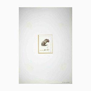 Leo Guide, Einsamkeit, Zeichnung, 1970