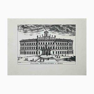 Unknown, Palazzo Montecitorio, Etching, 1970s