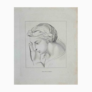 Thomas Holloway, Portrait After Raphael, Etching, 1810