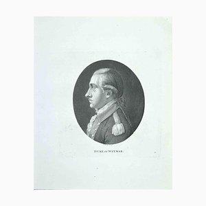 Thomas Holloway, Portrait of Duke of Weymar, Radierung, 1810