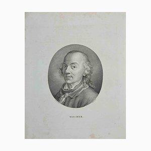 John Hall, Porträt von Wocher, Radierung, 1810