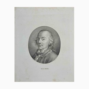 John Hall, Portrait of Wocher, Etching, 1810