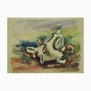 Leo Guida, The Melting Mask, Drawing, 1970s