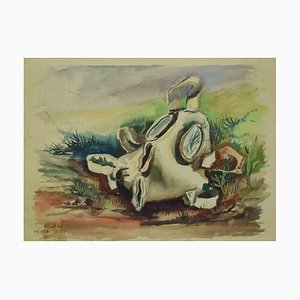Leo Guida, The Melting Mask, Zeichnung, 1970er
